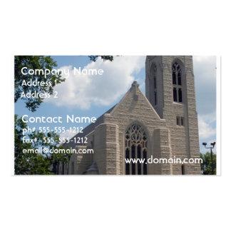 Igreja da catedral cartões de visitas