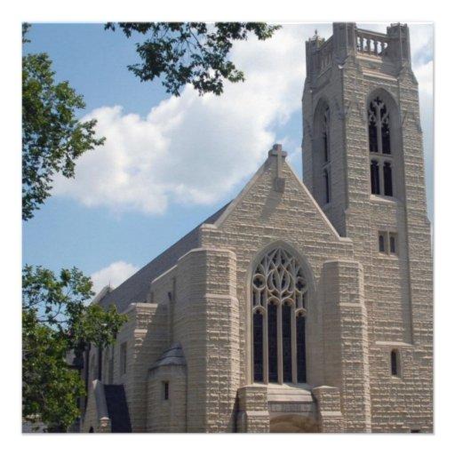 Igreja da catedral convite personalizado