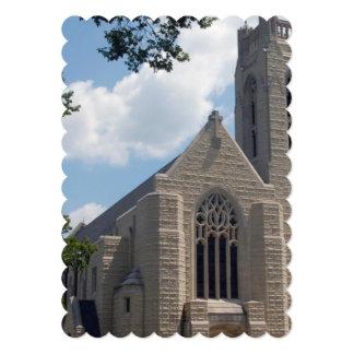 Igreja da catedral convite 12.7 x 17.78cm