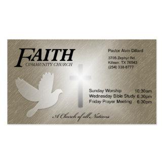 Igreja da comunidade da fé cartão de visita