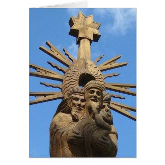 Igreja da estátua de St George, Vilkija, LITHUANIA Cartão De Nota