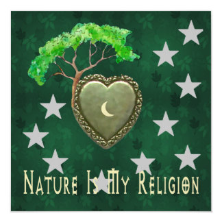 Igreja da natureza convite personalizados