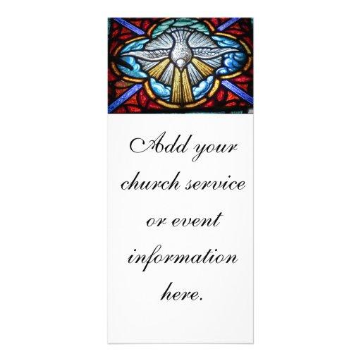 Igreja da pomba da janela de vitral/cartão cremalh modelo de panfleto informativo