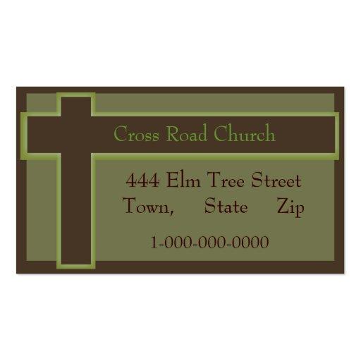 Igreja da religião cartão de visita
