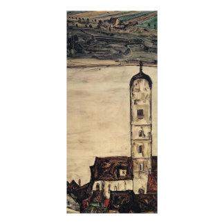 Igreja de Egon Schiele- na caneca de cerveja no Da Panfleto Informativo Personalizado