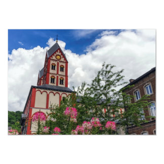 Igreja de St Bartholomew, Liege, Bélgica Convite 12.7 X 17.78cm