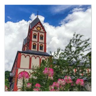 Igreja de St Bartholomew, Liege, Bélgica Convite Quadrado 13.35 X 13.35cm