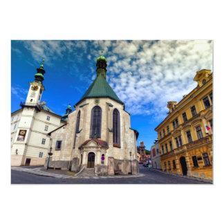 Igreja de St. Catherine, Banska Stiavnica, Convite 12.7 X 17.78cm