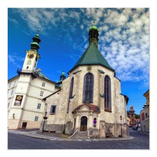 Igreja de St. Catherine, Banska Stiavnica, Convite Quadrado 13.35 X 13.35cm