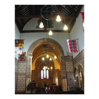Igreja de St Mary dentro do castelo de Dôvar em Papel De Carta