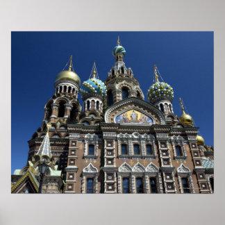 Igreja de St Petersburg, Rússia Poster