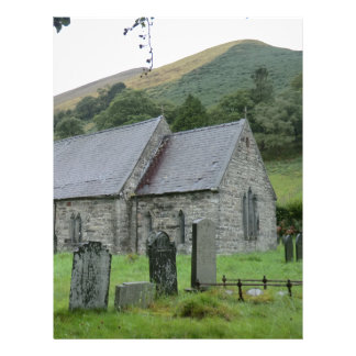 Igreja de Tydecho Llanmawddwy da rua, Wales Papeis De Carta Personalizados