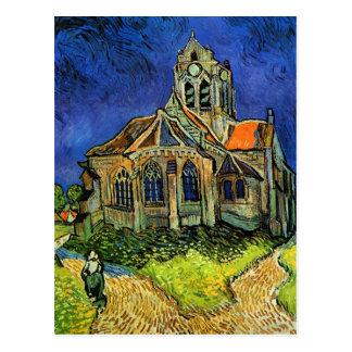 Igreja de Van Gogh em belas artes de Auvers (F789) Cartões Postais