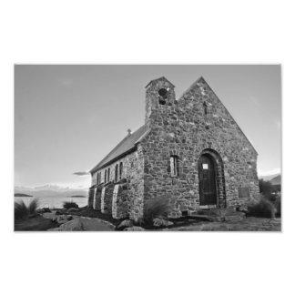 igreja do bom pastor, Nova Zelândia Impressão De Foto