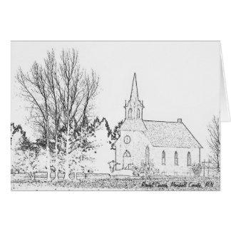 Igreja do cartão de nota B&W Rindal, o Condado de