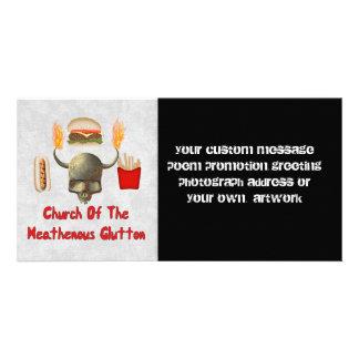 Igreja do Glutton de Heathenous Cartões Com Foto Personalizados