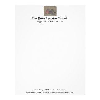Igreja do país do tijolo papel de carta