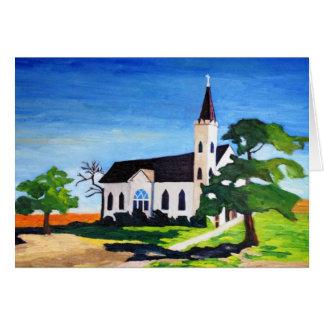 Igreja do país, Richland, Texas Cartão