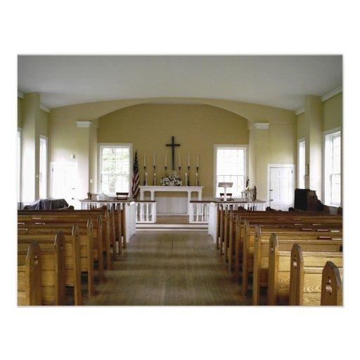 Igreja do parque de Allaire Convites Personalizado