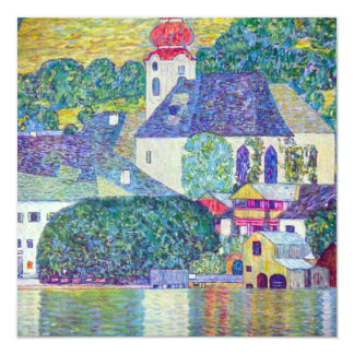 Igreja do St. Wolfgang por Gustavo Klimt, arte do Convite Personalizados