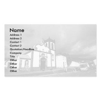 Igreja em Açores Cartão De Visita