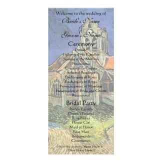 Igreja em Auvers por Vincent van Gogh Modelo De Panfleto Informativo