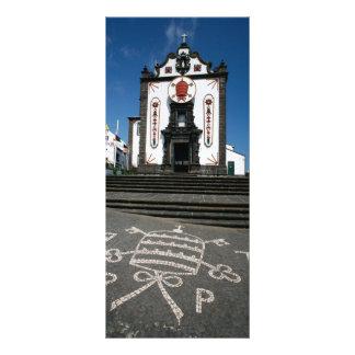 Igreja em ilhas de Açores Panfleto Informativo