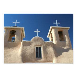 Igreja em Taos, New mexico Convite 12.7 X 17.78cm
