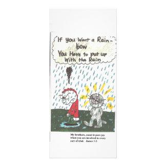 Igreja engraçada que diz a marca de livro panfletos informativos