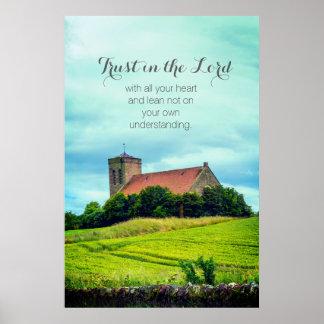 Igreja escocesa velha, poster cristão