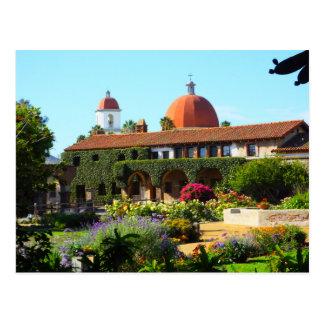 Igreja espanhola da missão de Califórnia Cartão Postal