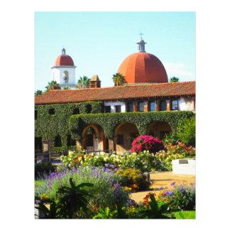 Igreja espanhola da missão de Califórnia Modelo De Papel De Carta