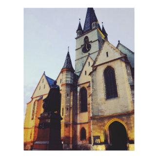 Igreja evangélica na noite modelos de panfleto