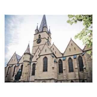 Igreja evangélica Sibiu Modelo De Panfleto
