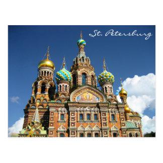 Igreja famosa de St Petersburg Rússia Cartão Postal