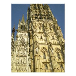 Igreja francesa modelo de papel de carta