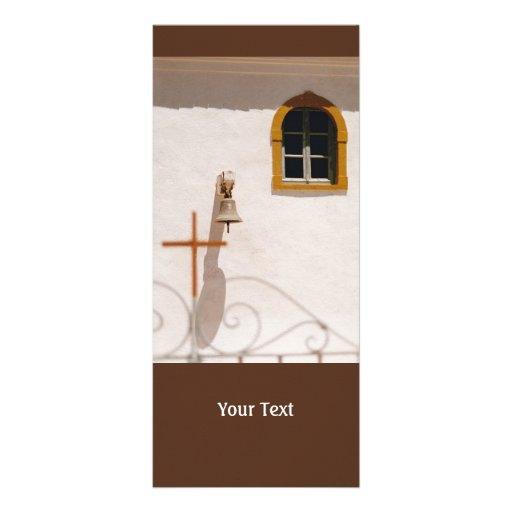 Igreja grega com cruz e Bell Paxos Planfetos Informativos Coloridos