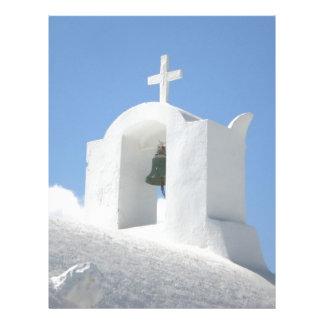 Igreja grega em Santorini Papel De Carta Personalizados