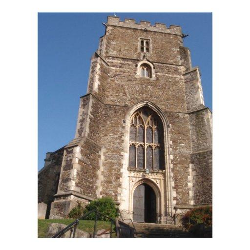 Igreja histórica em Hastings Inglaterra Papel De Carta