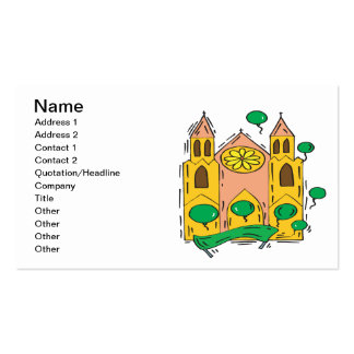 Igreja irlandesa cartão de visita