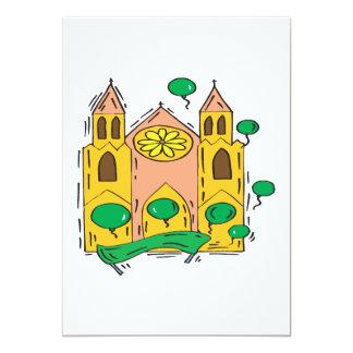 Igreja irlandesa convite 12.7 x 17.78cm