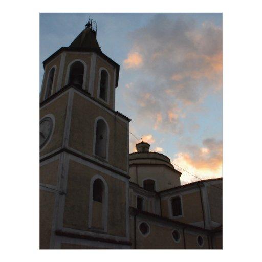Igreja italiana bonita papel de carta personalizados