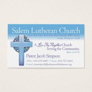 Igreja luterana de Jake Salem do pastor Cartão De Visitas