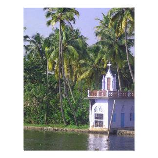 Igreja na costa papel de carta