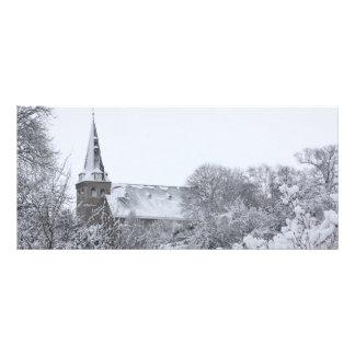 igreja na neve 10.16 x 22.86cm panfleto