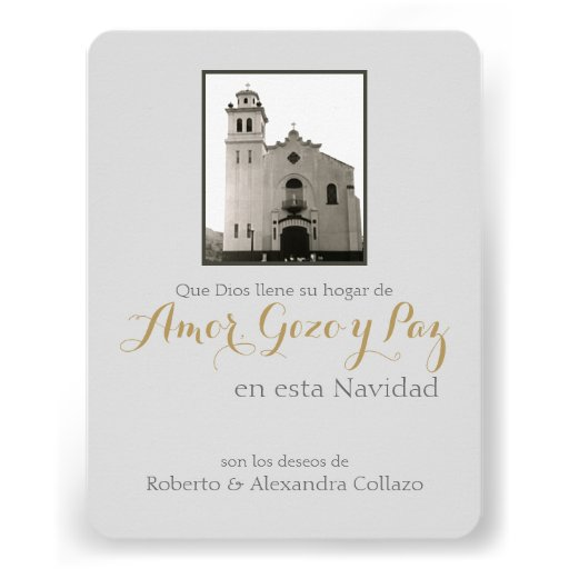 Igreja, Natal do espanhol de Puerto Rico Convites