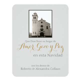 Igreja, Natal do espanhol de Puerto Rico Convite 10.79 X 13.97cm