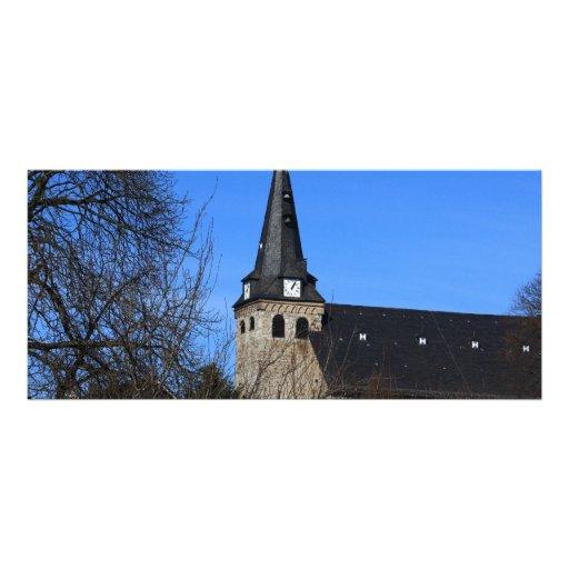 igreja no primavera adiantado 2 modelos de panfletos informativos