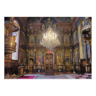 Igreja ortodoxa do grego da trindade santamente cartões de visita