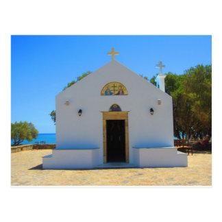 Igreja ortodoxa em Gouves, cartão de Crete